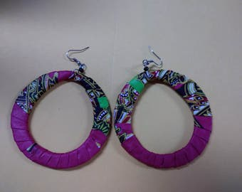 African Ankara Earrings