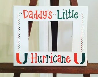 Miami Hurricanes inspired 5x7 picture frame