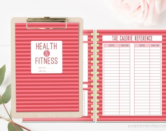 Health and fitness printable planner, weekly health journal, fitness organizer, meal planner, exercise log, fitness diary, goal planner
