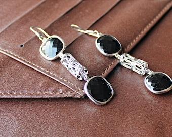 Silver Earrings, Sterling Silver, Minimalist, Dangles, Geometric Earrings, Simple, Light, Everyday Earrings, Sterling Silver Dangle Earrings