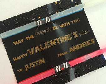 Valentines Day Cards- Star Wars Theme by Fara Party Design | Valentine's Day| School Class | Editable TEXT