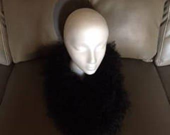 Fake fur black cowl