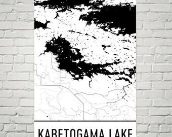 Kabetogama Lake Minnesota, Kabetogama Lake MN, Kabetogama Lake Map, Minnestoa Map, Lake Map, Minnesota Art, Kabetogama Lakes, Minnesota