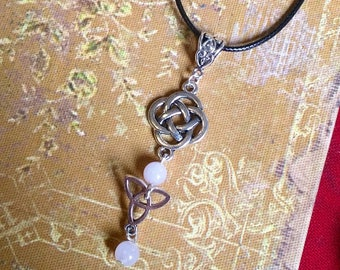 Celtic Necklace: Alana (genuine Rose Quartz)