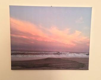 Photograph Canvas Beach Sunset Sky
