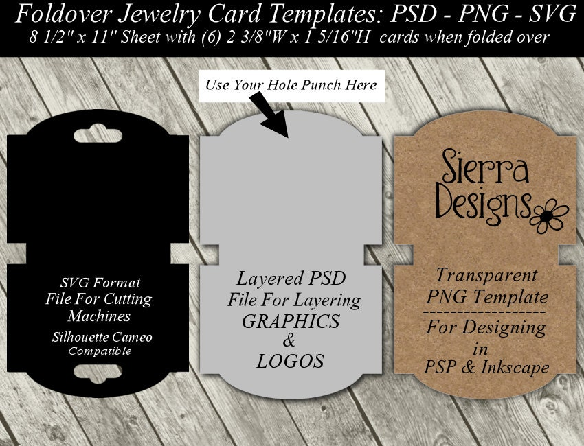 Necklace Card Template Available In Svg Cutting File