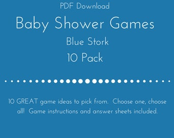 Baby Shower Games 10 Pack- Boy