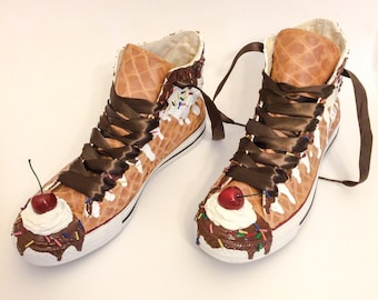 Kids Ice Cream Custom Converse Ice Cream Sundae Shoes for Children As Seen on Talk Stoop