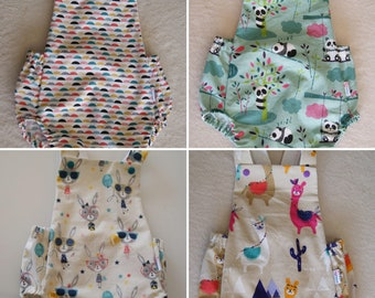 Summer Rompers/Frogs happy prints