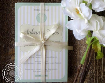 First Communion and Baptism Favor Cards - Customized PDF to print