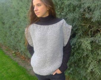 Patrón chaleco mujer - Patrones para tejer a dos agujas - Tutorial chaleco - Patrón en español - Patrones punto - Talla S/M