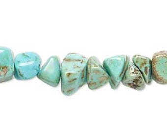 "Turquoise Chip Beads - Large Chips - 15"" Strand"