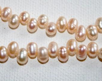 Pearls -  Pink Teardrops 8x6mm