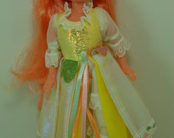 Vintage Lady LovelyLocks Doll Maiden Curly Crown, Mattel TCFC 1986, Lady Lovely Locks