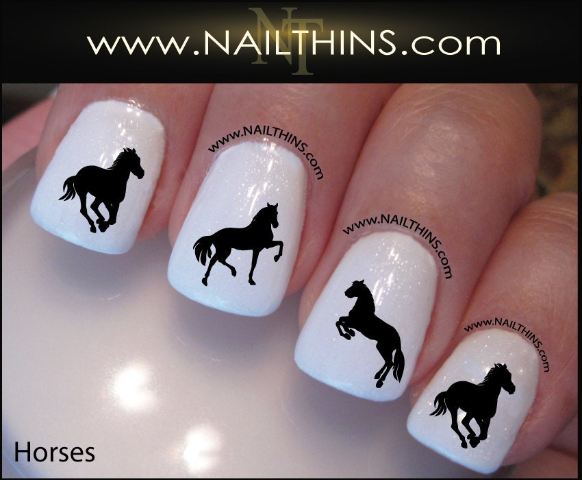 Horse Nail Decal Equestrian Horses Country Nail Art Designs by