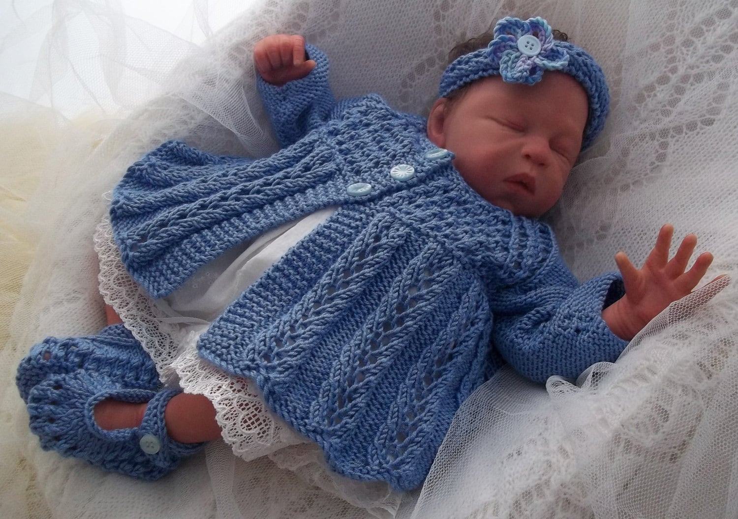 Knitting Designs For Newborn Babies : Baby knitting pattern download girls