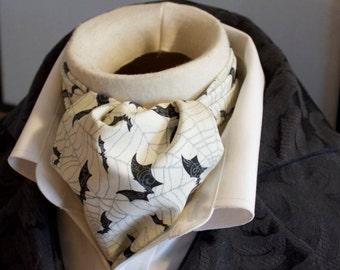 Pure Cotton - Paisley Bats - DAY Cravat Victorian Ascot Tie Cravat