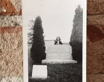 Stoic Pose- A Vintage Cemetery Photograph