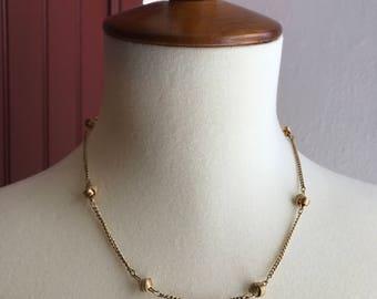 Vintage Gold Tone Knot Necklace - Avon