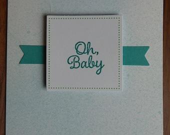 Ribbon Baby Card