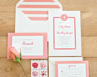 Dotted Darling Invitation Suite SAMPLE PACK