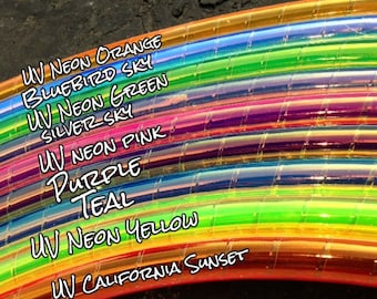 """Dream Weaver Colored 5/8"""" PolyPro Hula Hoop - You Choose Color and Size for the Hoop"""