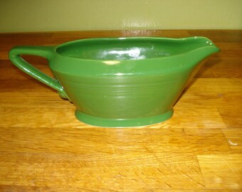 Homer Laughlin Harlequin Forest Green Sauceboat, Gravy