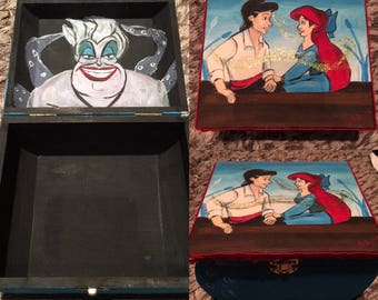 Hand painted Disney The Little Mermaid box