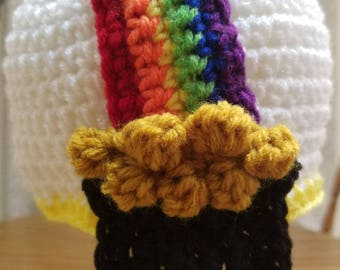 Rainbow and Pot of Gold Hat