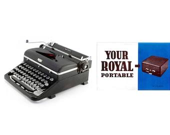 Royal Quiet De Luxe Vintage Typewriter Owner's Manual - Digital Download - Royal Typewriter Owner's Manual - 1930s + 1940s Royal Typewriters
