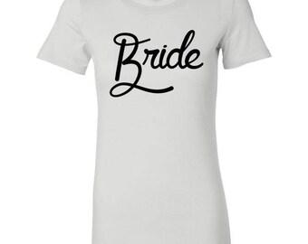 Bride Retro Script Tee - Bachelorette Party T-Shirt (4 colors)