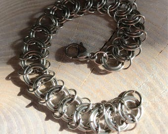 Chainmail Centipede Vertebrae Bracelet Stainless Steel Chainmaille Chainmail