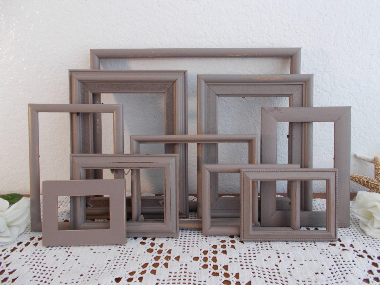 Braun Bilderrahmen Set rustikale schäbig schicke notleidenden