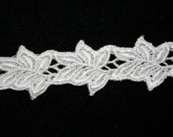 Venise Lace in a Leaf Design - Sold by the Yard