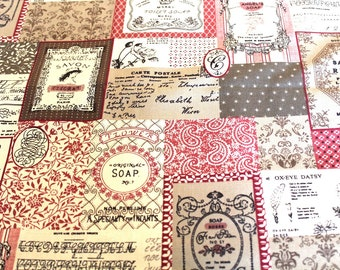 Coupon 50x55cm vintage upholstery fabric