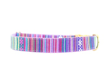 Rainbow Serape Dog Collar