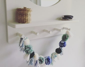 Pom pom and tassel garland