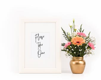 Please Take One  Wedding Sign, Wedding Signs Please Take One, Wedding Signs Printable, Wedding Signs Download, Wedding Signs PDF