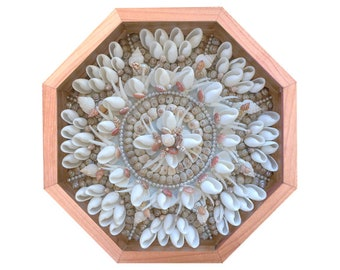 "Nantucket Sailor's Valentine Seashell Mosaic Design ""Lace"""