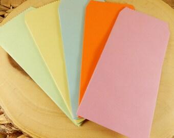 Plain DL Envelopes, Pack of 5, Long Envelopes, Colourful Envelopes, Scrapbooking Paper Envelopes, DIY Gift Bags