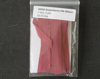 5028A Boysenberry Silk Ribbon  7mm
