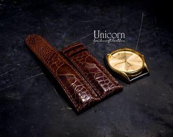 Ostrich watch strap handmade Leather, Handmade Vintage Leather Strap, Leather Watch Band