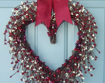 Valentine Wreath -  Valentine Door Wreath