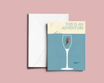 Life Aquatic - This is an adventure Greeting Card