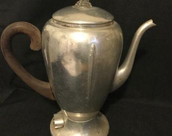 Vintage Coffee Pot Farmhouse Aluminum Coffee Pot Vintage Condition Rusty