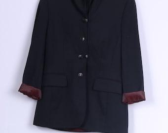 Toffs Womens 12 S Blazer Black Hood Single Breasted Jacket