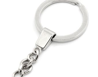 set of 2 key chain ring 6.4x3 cm chain