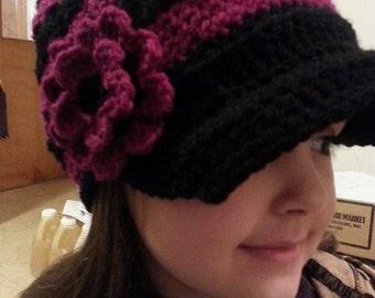 Flower Petal Newsboy Hat