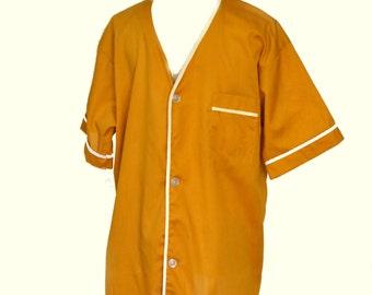 60s Pajama Top Mens PJ Shirt Brent Sz L