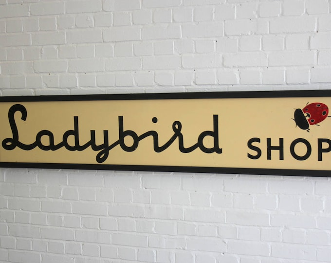 Large Hand Painted Ladybird Clothing Shop Sign Circa 1950's